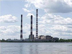 Дымовая труба электростанции Mitchell Power Plant