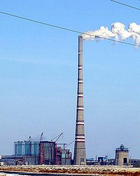 Дымовая труба плавильной печи Chimney of Teruel Power Plant