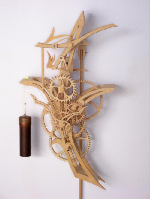 Деревянные часы Райская птица