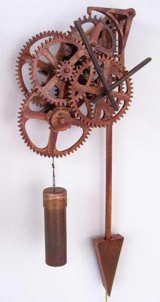 Деревянные часы Плавающие колеса