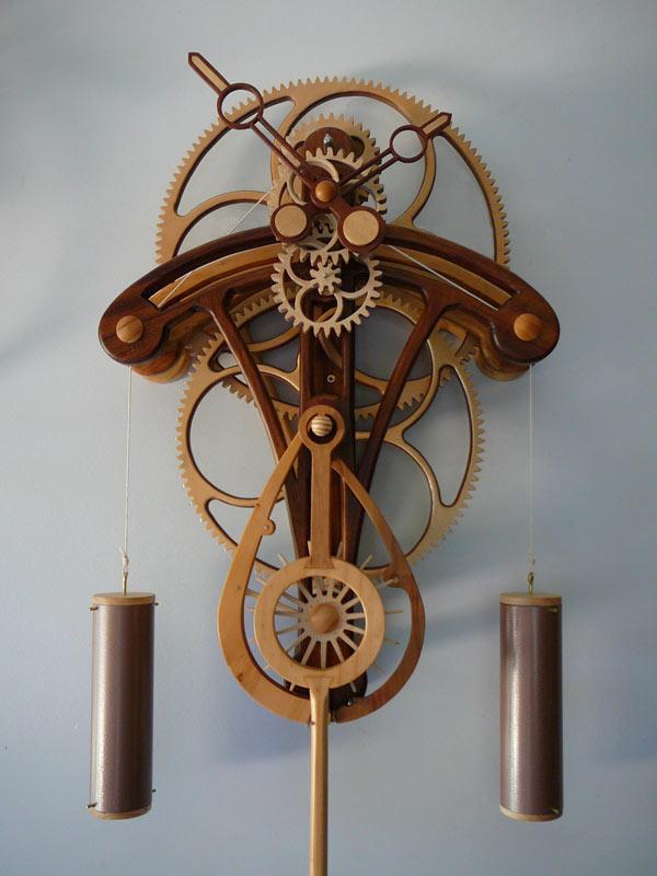 Деревянные часы Соларис