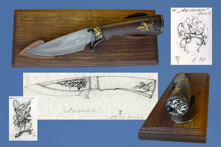 Нож на подставке Абанат