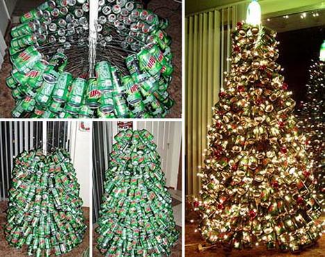 Новогодняя елка из алюминиевых  банок